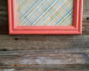 8x10 Coral Distressed Picture Frame