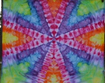 Tie Dye Cotton Rainbow Hippie Bandana
