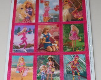 Barbie Stickers by Heartline 4 Sheets Package Pack New NIP