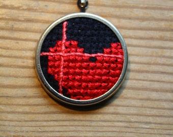 Heart and cross. Cross stitch.