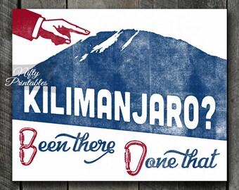 Kilimanjaro Print - PRINTABLE Mount Kilimanjaro Poster - Mountain Climbing Art - Mountain Climber Gifts - Retro Vintage Mt Kilimanjaro Print