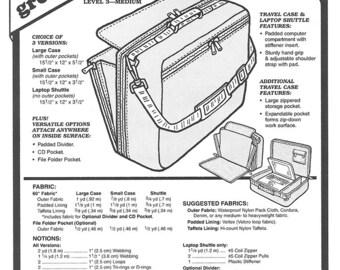 Green Pepper Sewing Patterns, Laptop Case Sewing Pattern, Laptop Bag Pattern, Laptop Case Pattern,Travel Bag Sewing Pattern GP 525