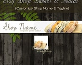 Etsy Soap Shop Banner and Matching Avatar, Premade Natural Products, Bath and Body, Customize Shop Name and Tagline, Graphic Design Service
