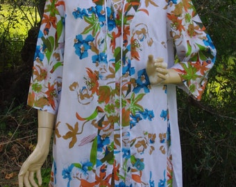 Floral Tunic Loose Tunic Fashion Tunic Womens Tunic Maternity Large Tunic Summer Dress Tunic Tops Tunic Dress Boho Tunic Ethnic Dress