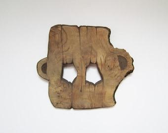 Hand carved Wood mask original wood art