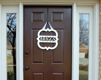 Weatherproof Personalized Quatrefoil Front Door Monogram