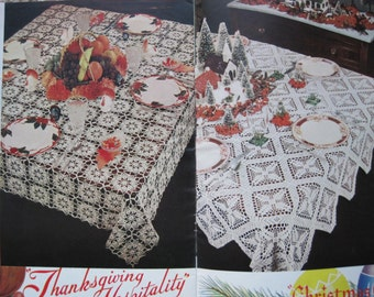Vintage Crochet Pattern Book - Tablecloths for the Seasons - Lily Design Book No. 57