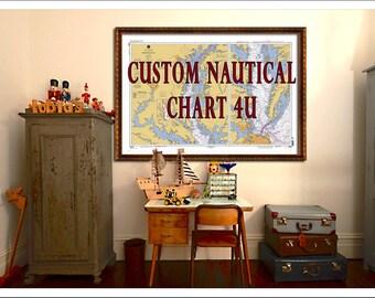 Custom Nautical Charts....Deposit