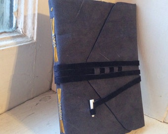 Leather Bound Woven Long Stitch Book