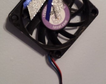 GEEK Christmas Ornament - Computer Fan with Happy Holidays
