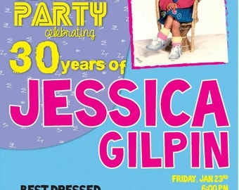 Ultimate 90s Party Invitation Digital File- You print at home or online (DIGITAL COPY)