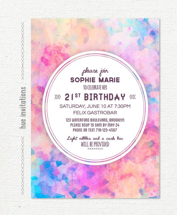 Rainbow Birthday Invitations was good invitations example