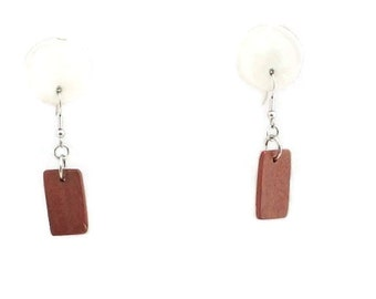 Dangling Tribal Absract Brown Wooden Bead Earrings Free Shipping to USA