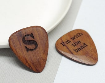 Guitar Plectrum, Personalised Wooden Letter Plectrum, Guitar Pick With Initial, Personalized Letter Pick, Music Lover Gift, Guitarist Gift