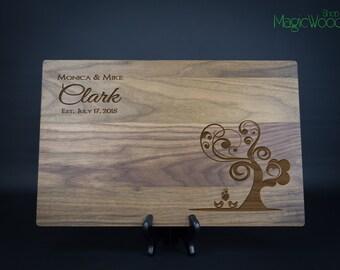 "Personalized Cutting Board, Wedding Gift, Custom Cutting Board -11""x17""x1"" (Great Size) - Wedding Gift, Anniversary Gift, Housewarming Gift"