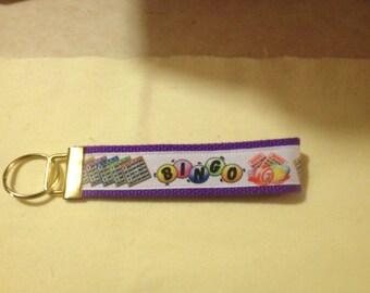 Bingo wristlet key fob holder keychain