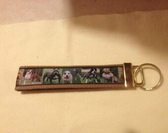 Pittbull wristlet key fob holder keychain