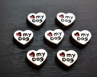 Love My Dog Floating Charm for Floating Lockets-Gift Ideas for Women