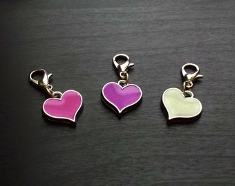 Heart Dangle Charm for Floating Lockets & Necklaces-Choose One-Gift Ideas for Women