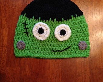 Crochet Baby/Toddler/Child/Adult Frankenstein Hat