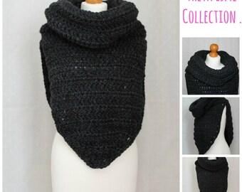 CROCHET PATTERN, Poncho Cowl Pattern, Crochet Poncho, Crochet Cowl, Poncho Cowl, Poncho Pattern, Cowl Pattern, Crochet, Poncho, Cowl - Pdf01