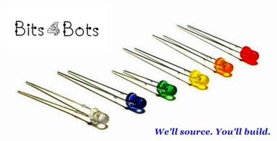 LED's Variety Pack 14 PCS - Light Emitting Diodes - 3mm - Hobbies + Projects - Water Clear 7 colors