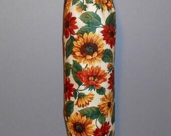 Grocery Bag Holder - Plastic Bag Holder -  Bag Dispenser - Sunflowers