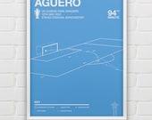 Manchester City - Sergio Aguero vs QPR Giclee Print