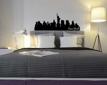 New York City Skyline Wall Decal   Choose Your Size And Color Part 77