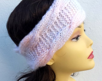 Multivolored Hand Knitted Headband, Hair Accessories  knitted headband, cable knit hairband, women knitted headband