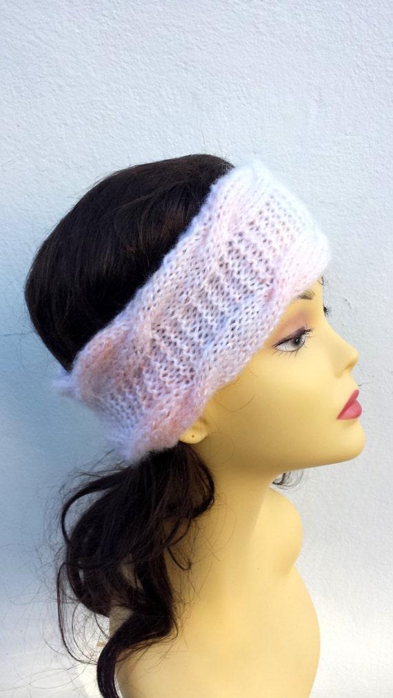 Multivolored Hand Knitted Headband, Hair Accessories  knitted headband, cable knit hairband, women knitted headband