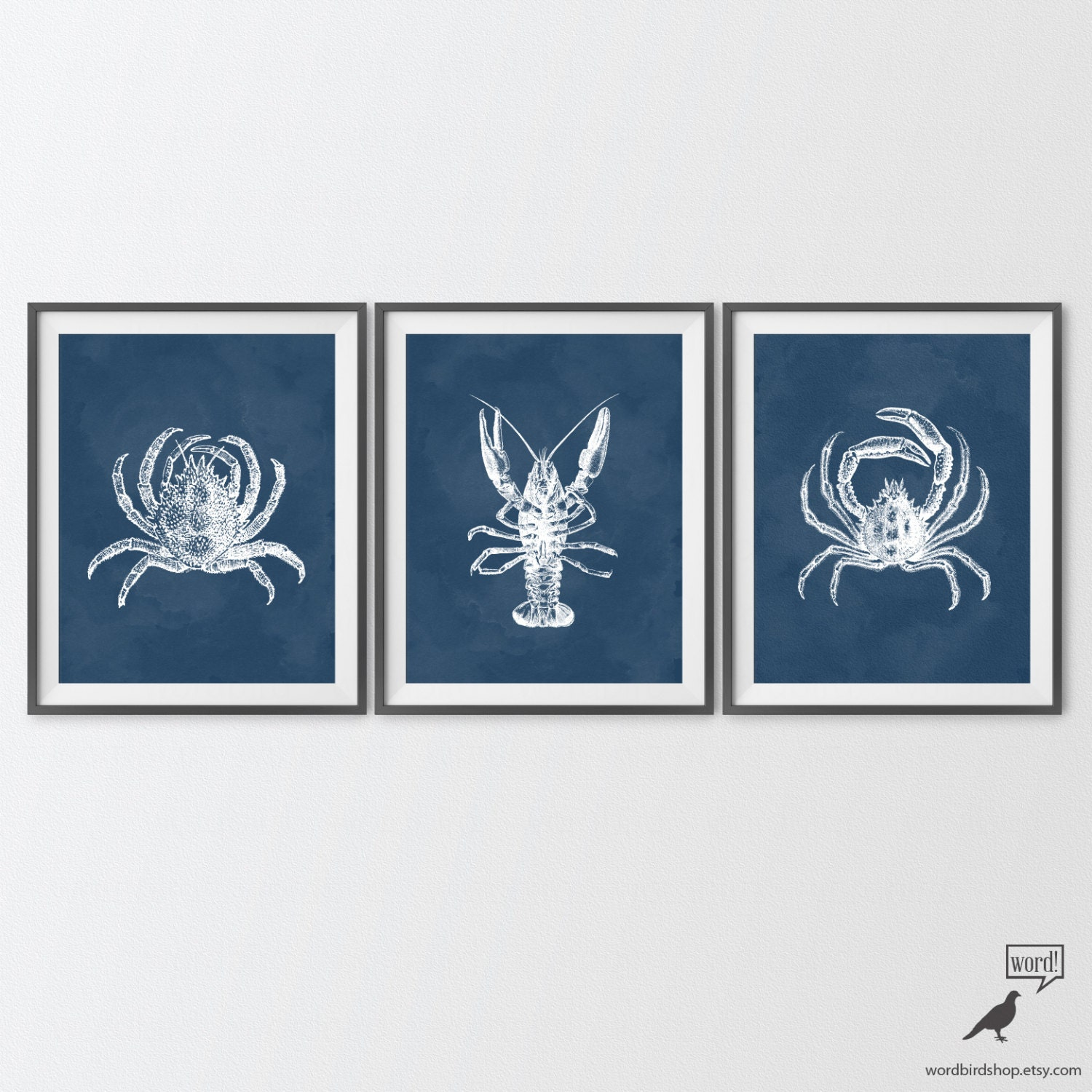 Https Www Etsy Com Listing 209195263 Navy Blue Bathroom Decor Crab Lobster