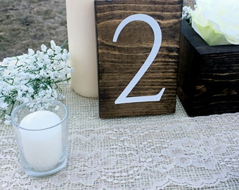 Wedding Double Sided Table Numbers, Vertical Wooden Table Numbers, Rustic Table numbers, Wood Table Numbers,  VERTICAL STRAIGHT