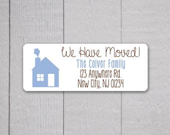 We Have Moved Return Address Labels, Return Address Stickers, Holiday Address Stickers (#302)