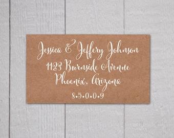 Wedding Invitation Return Address Labels White Ink Clear
