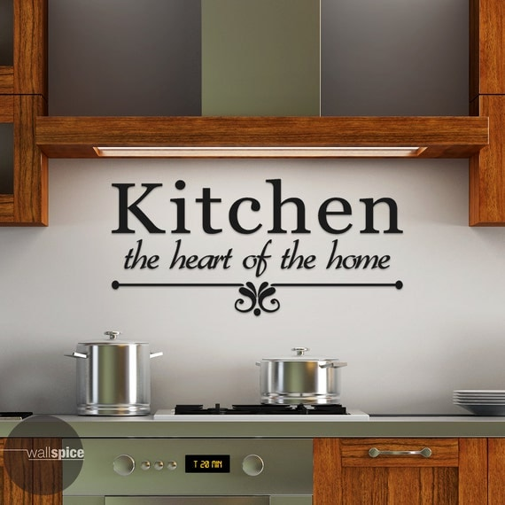 Kitchen The Heart Of The Home Vinyl Wall Decal Sticker