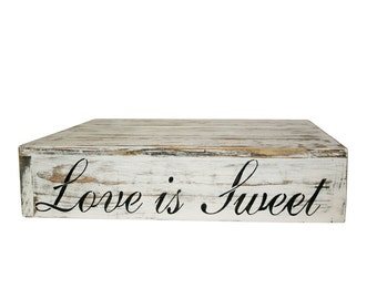 Country Rustic Wedding Solid Wood Cake Cupcake Stand Beach Wedding Cake Stand Candy Bar