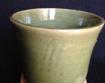 celadon green cup