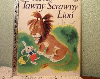 Tawny Scrawny Lion, Little Golden Book, Kathryn Jackson,Gustaf Tenggren