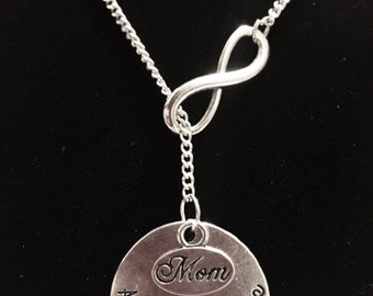 Infinity A Son's First Love Mom Mother's Gift Lariat Necklace
