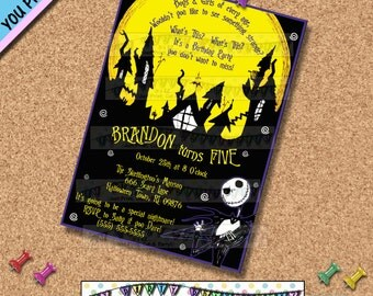 Nightmare before Christmas BIRTHDAY INVITATIONS INVITES Halloween Party Haunted house Horror Movies Other Party Supplies Sold Seperately