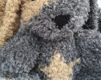 Walter the Knit Bunny, soft bunny, Handmade, Stuffed Animal, Stuffed Toy, Easter, gift, cute bunny, plush bunny, bunny softie, bunny plushie