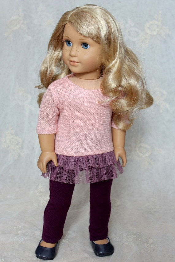 "Lacy High-Low Sweater for American Girl or 18"" Doll"