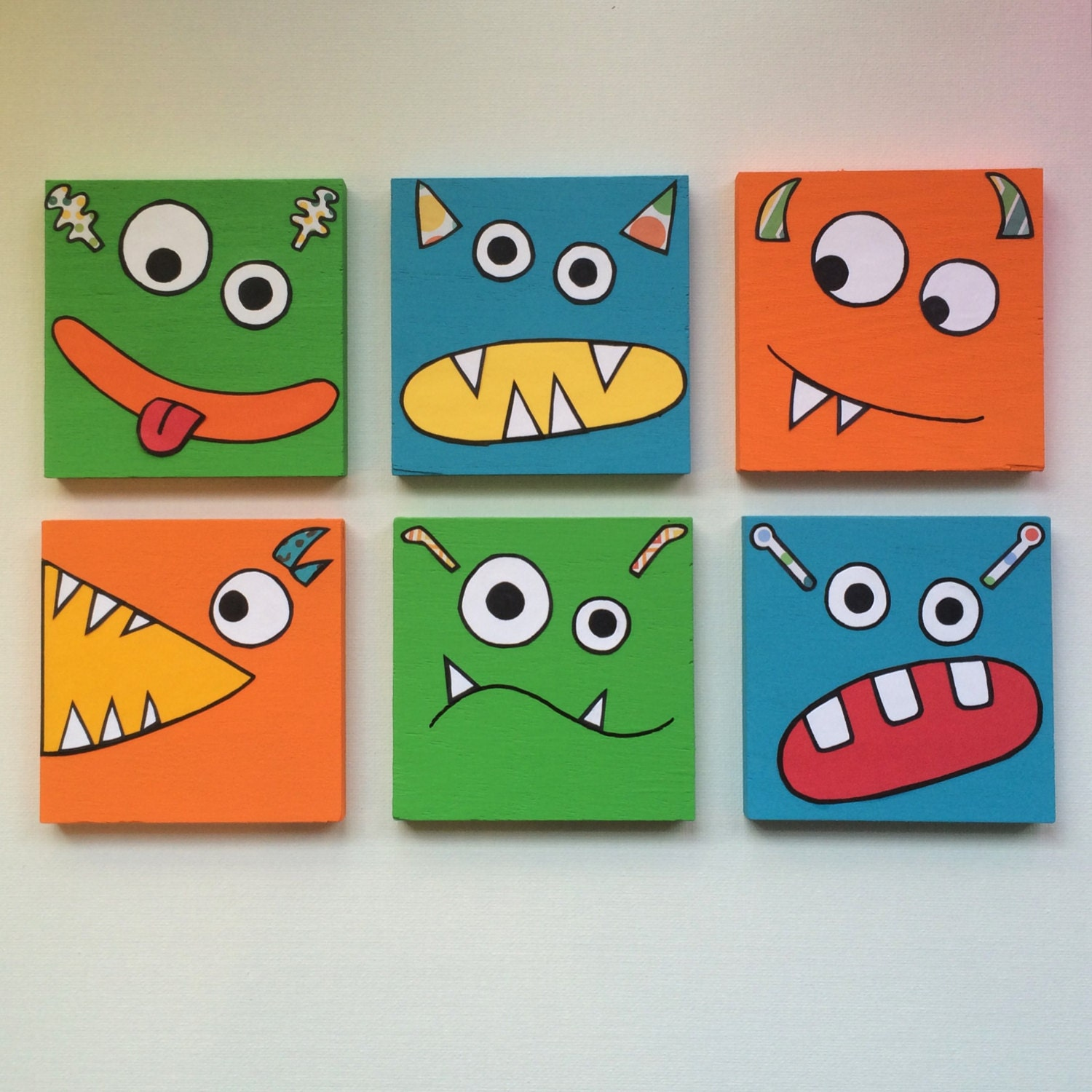 Baby Boy Bedroom Ideas Monster Art Kids Monster Art Children Monster Wall Art Boys