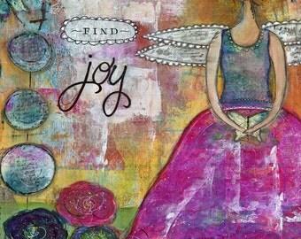 """Find Joy    8"""" x 10"""" mixed-media print"""