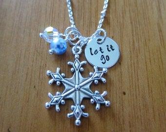 "Frozen Inspired ""Let It Go"" Frozen Necklace. Frozen gift, Frozen jewelry. Big snowflake charm. Swarovski Elements Crystal. *"