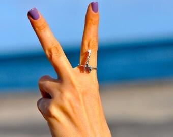 Sterling Silver Trendy Giraffe Ring/ Giraffe Ring/ Gifts For Her/ Animal Ring/ Trendy Ring