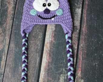 Monster Hat Character Hat Sizes Newborn to Adult