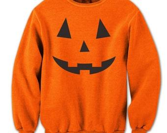 Adult Pumpkin Face  Crewneck Sweatshirt DB0004