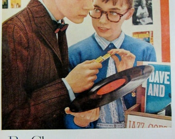 1957 Beech Nut Chewing Gum Vintage Advertisement Kitchen Wall Art Game Room Candy Store Decor Original Magazine Print Ad Paper Ephemera